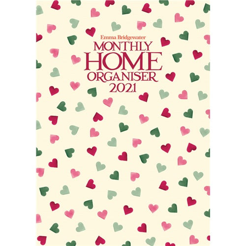 Emma Bridgewater Pink And Green Hearts A3 Family Planner 2021