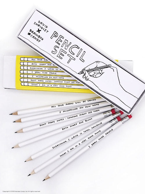 David Shrigley Pencil Set
