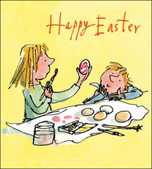 Quentin Blake Egg painters Easter Card