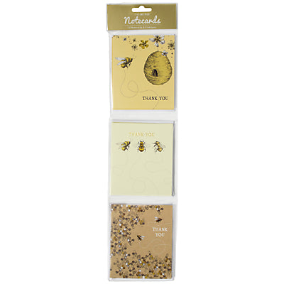 Hanging Pack of 12 Bees Thank You Cards