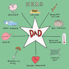 Dad Hero Compass Father's Day Card
