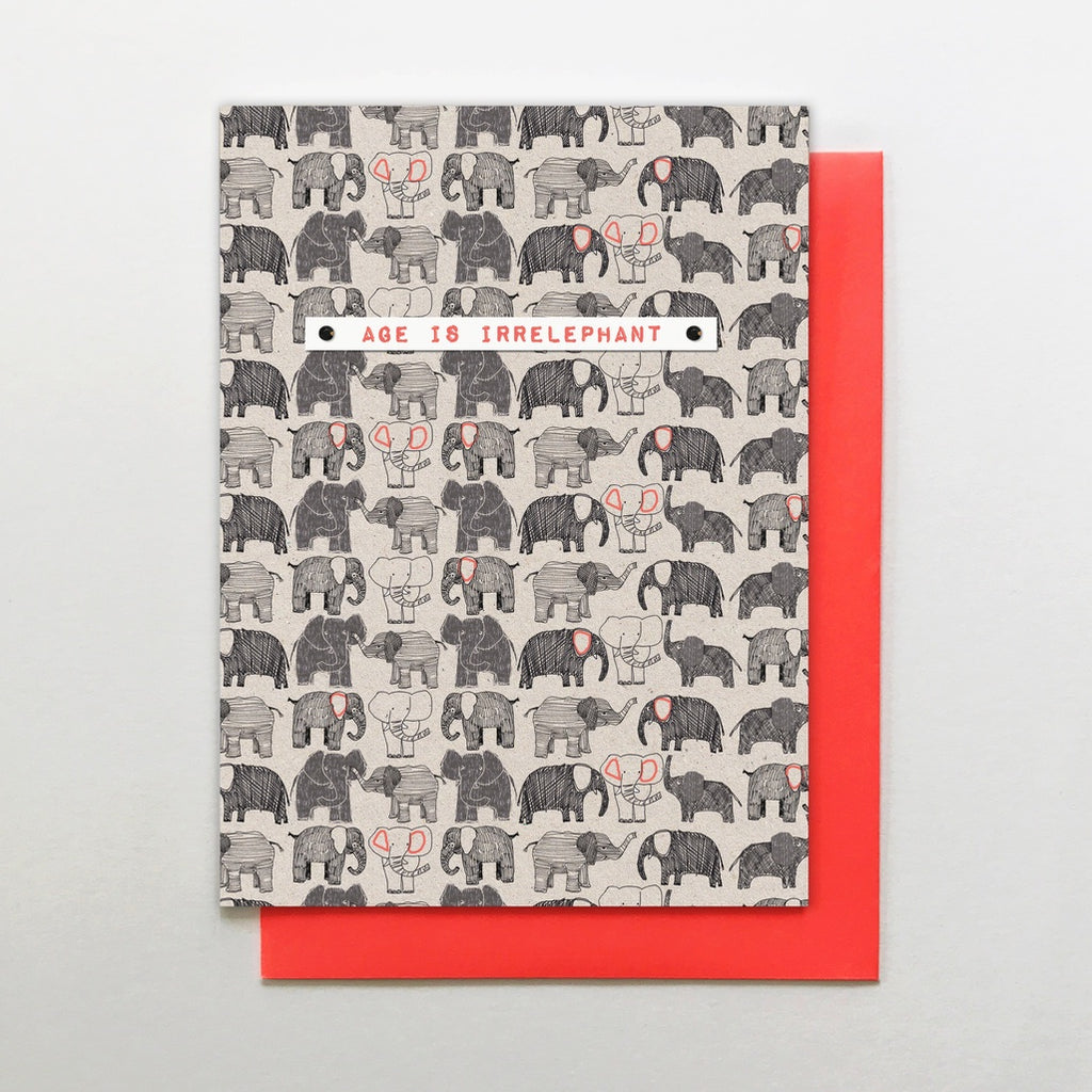 Age Is Irrelephant Elepant Card