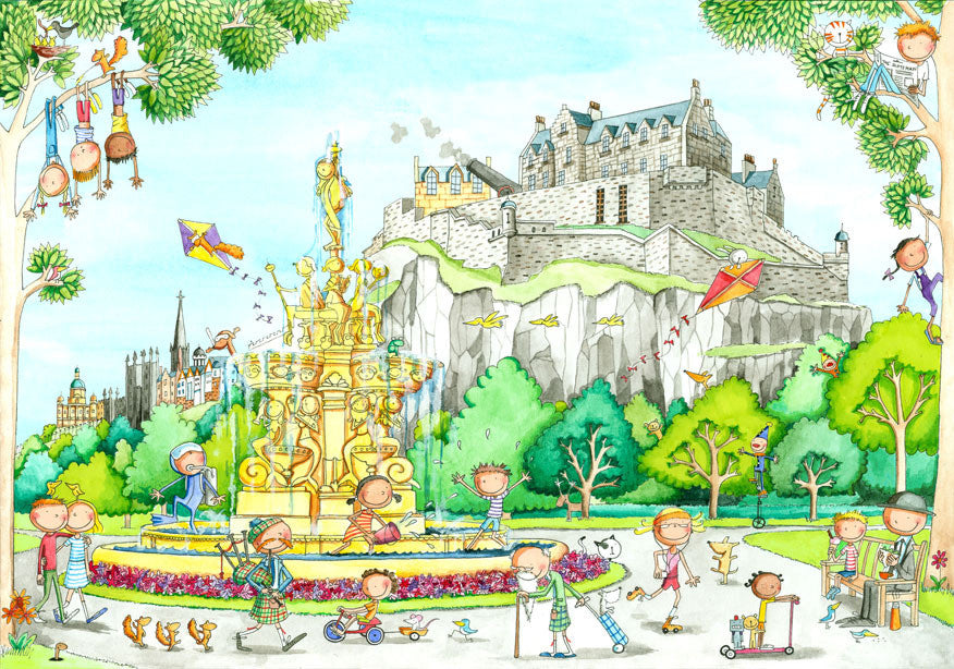Gingerpaws at the Castle from the Gardens Card