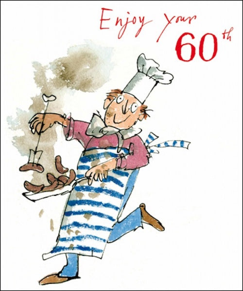 Cooking Quentin Blake 60th Birthday Card
