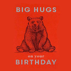 Happy Birthday Big Hugs Card