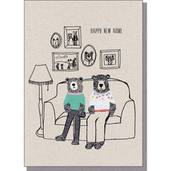 New Home Card - Bears on Sofa