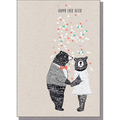 Happy Ever After Bears Wedding Card