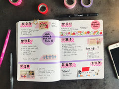 MT Washi Masking Tape - Bullet Journal Workshop - 5th May 3.45pm