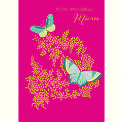 To My Wonderful Mum Butterflies Card
