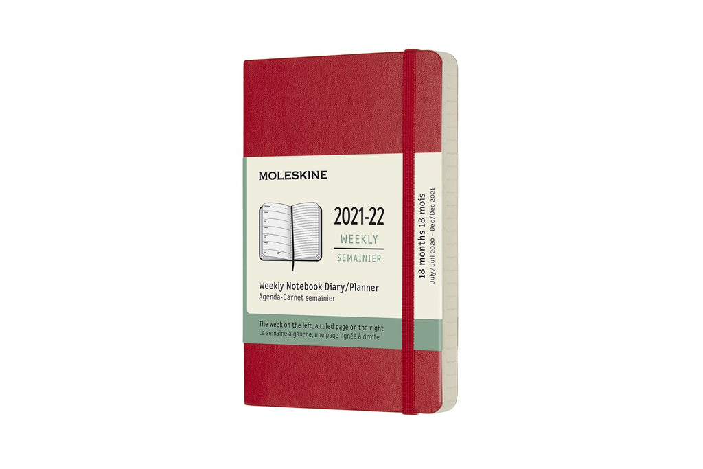 2021-22 Weekly Planner Pocket Softcover Red
