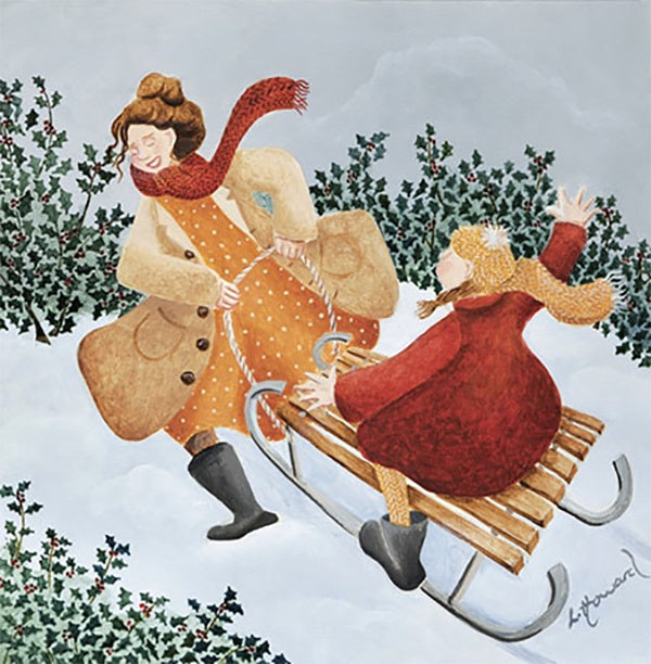 Fun In The Snow Pack of 5 Christmas Cards