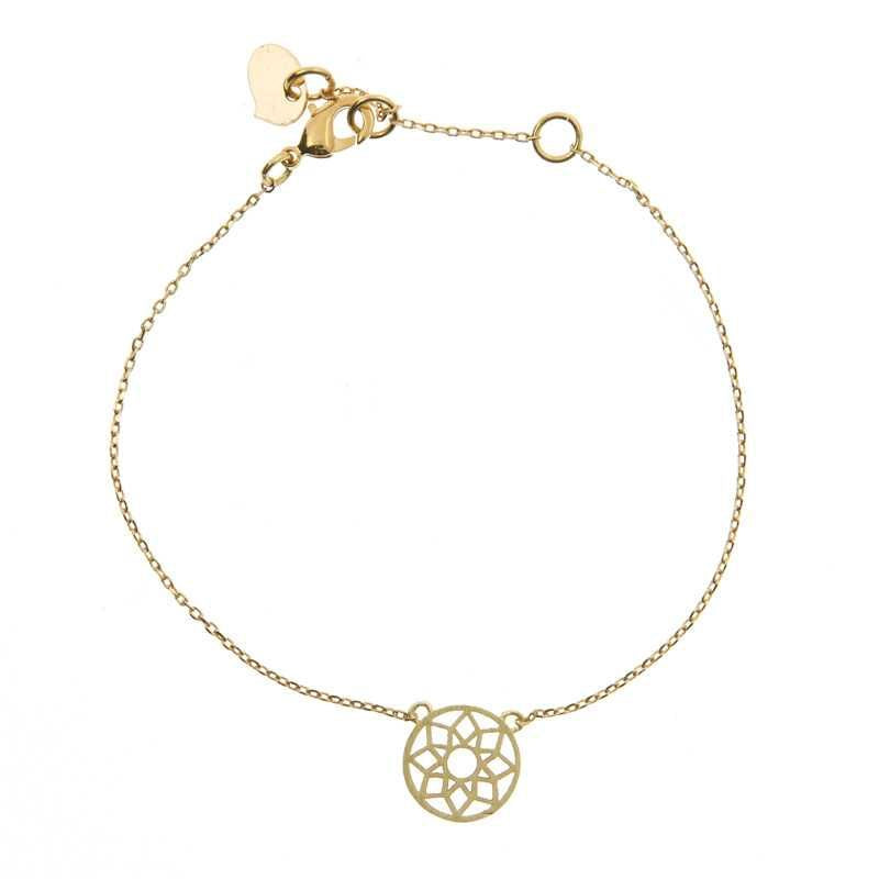 Mandala Bracelet Gold Finishing