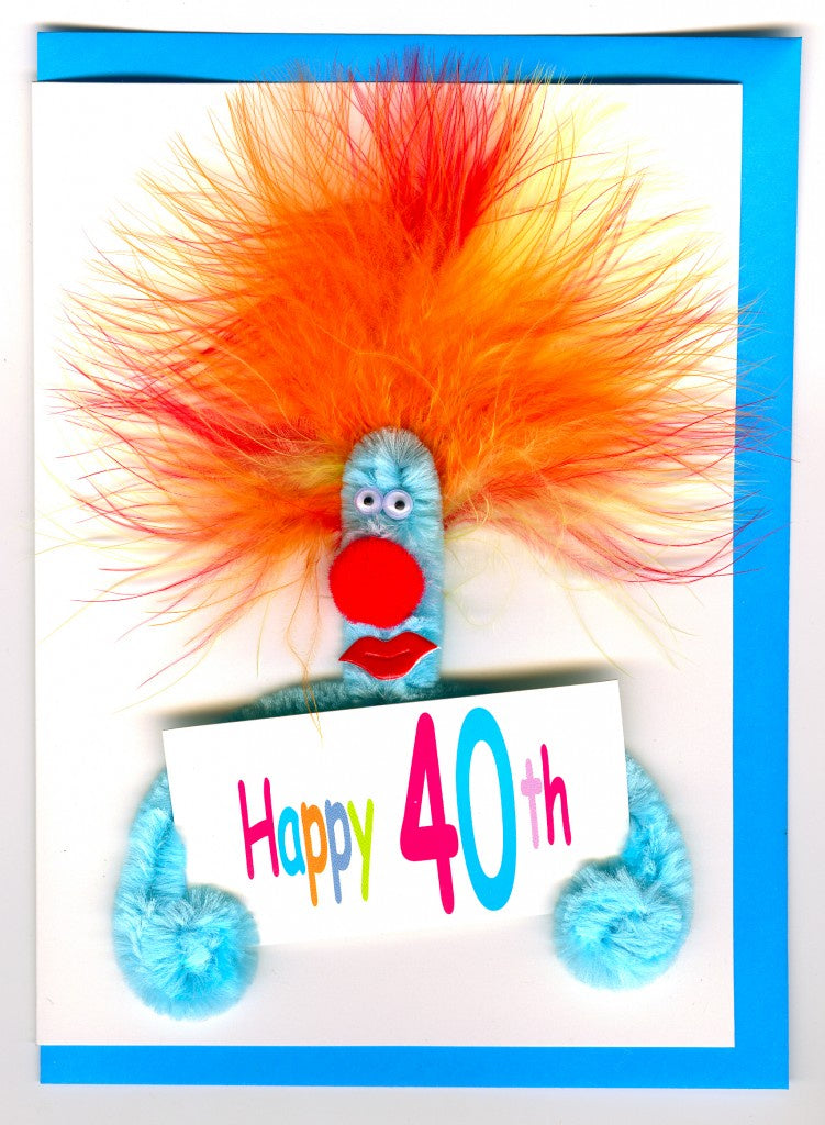 Puffy 40th Birthday Card
