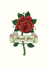 Thank You Rose Tattoo Card