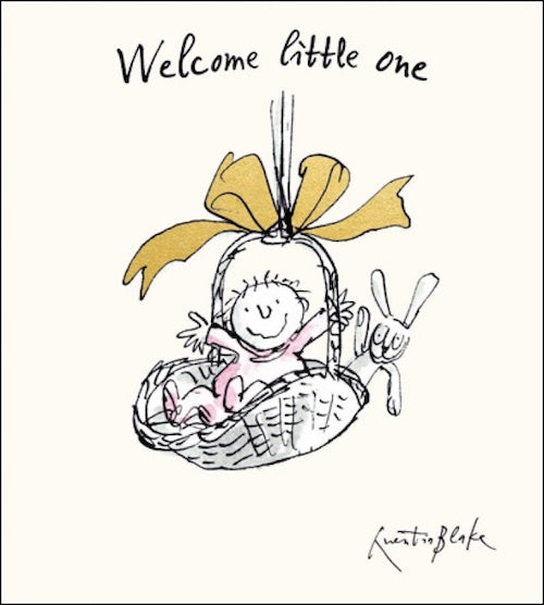 Quentin Blake Foiled New Baby Girl Card