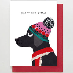 Christmas Labrador Card
