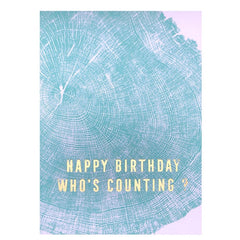 Who's Counting Birthday Card