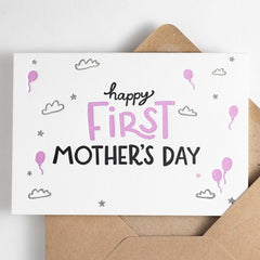 Happy First Mother's Day Letterpress Card