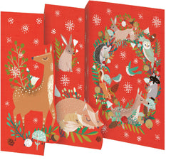Frosty Forest Wreath Trifold Christmas Card Pack