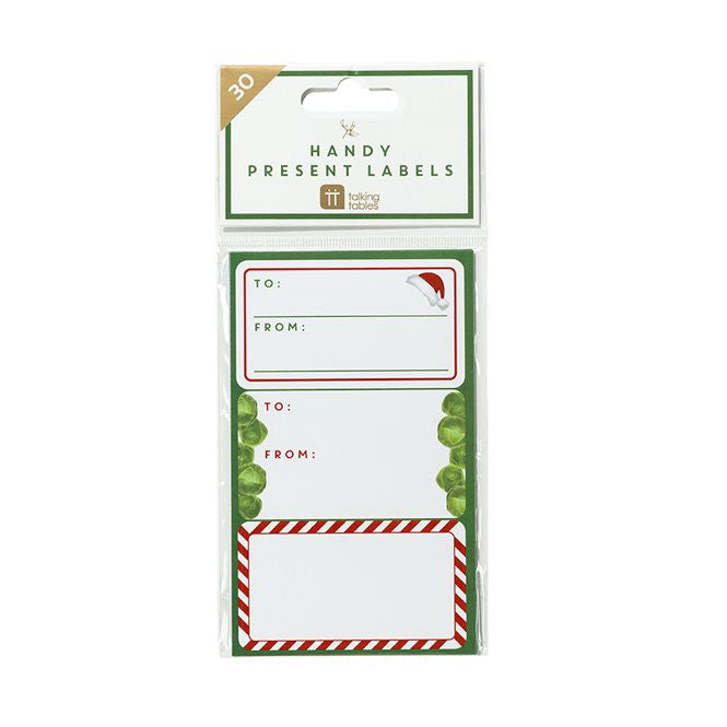 Present Labels - Christmas Sprout Pack of 30