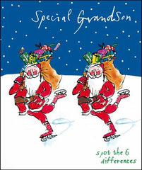 Grandson Skating Christmas Card