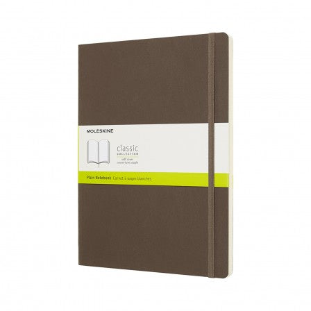 Moleskine XL Plain Hardcover Notebook Earth Brown