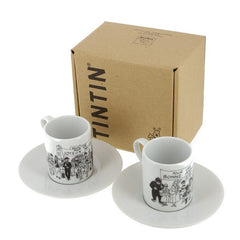 Tintin Box of Two Holiday Greetings Espresso Mugs