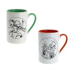 Tintin Champagne and Congo Mug Duo