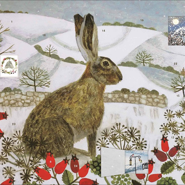 Hare In The Snow Advent Calendar