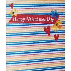 Happy Valentines Day Stripe Background Seed Card