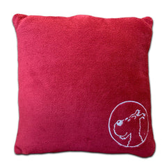 Snowy Red Cushion