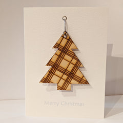 Tartan Tree Christmas Card