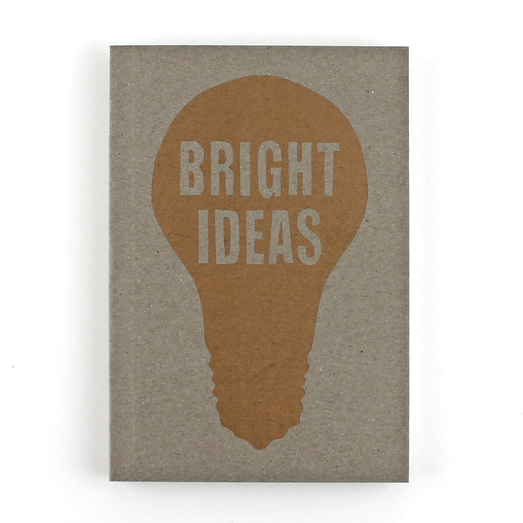 Bright Ideas Letterpress Lined Notebook