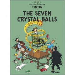 The Seven Crystal Balls Tintin Postcard