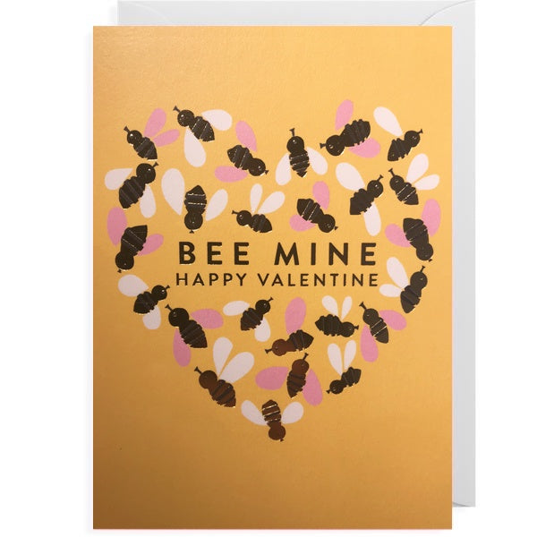 Bee Mine Happy Valentine Card