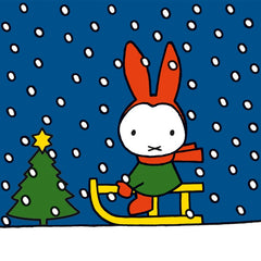 Miffy Sledging Pack of 8 Cards