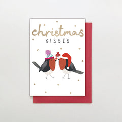 Christmas Kisses Robin Card