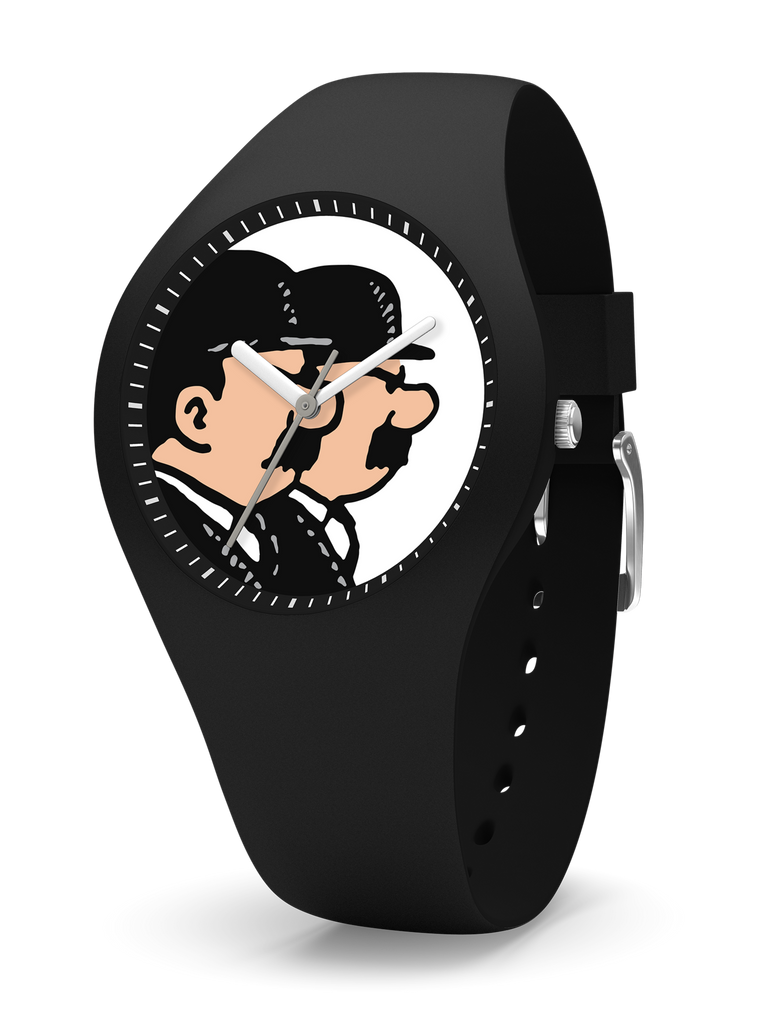 Tintin Watch - Thompson and Thomson in Black