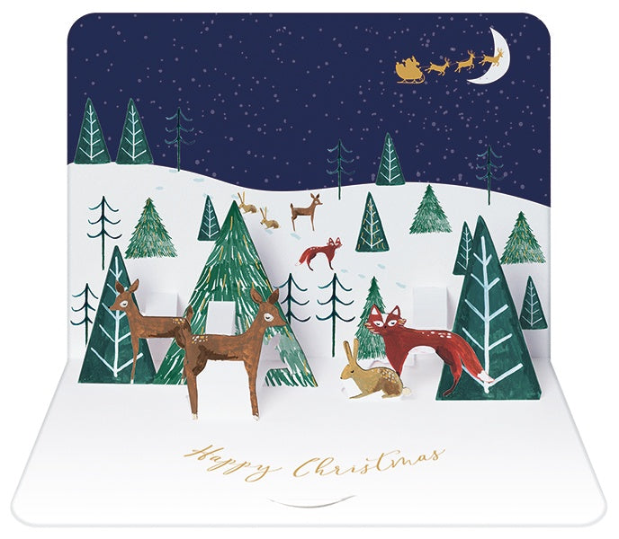 Woodland Scene Christmas Pop-Up Card