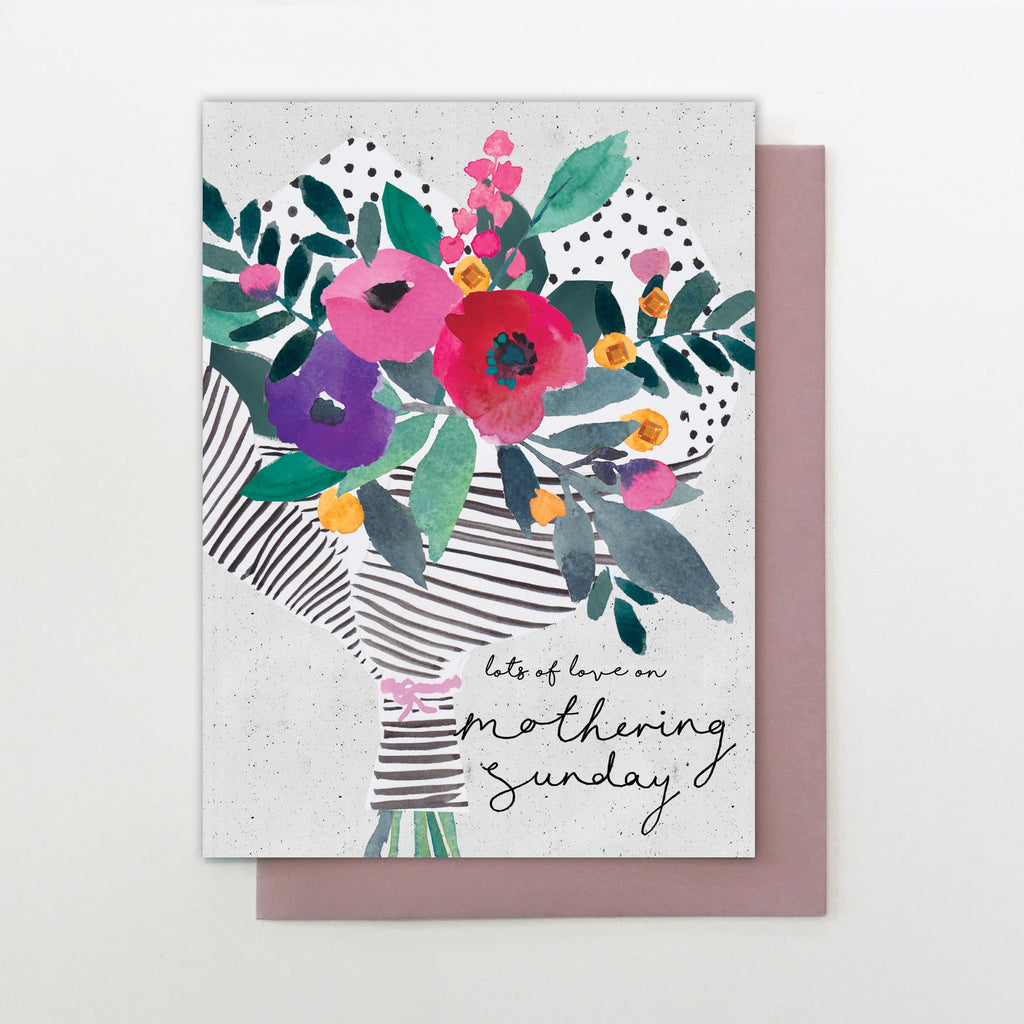 Lots of Love Bouquet Mothering Sunday Card
