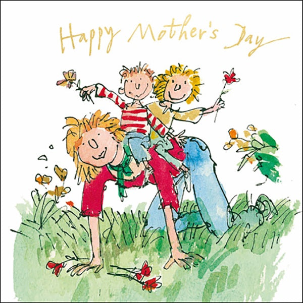 Happy Mother's Day Quentin Blake Glitter Card