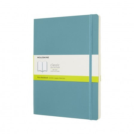 Moleskine XL Plain Soft Cover Notebook Reef Blue