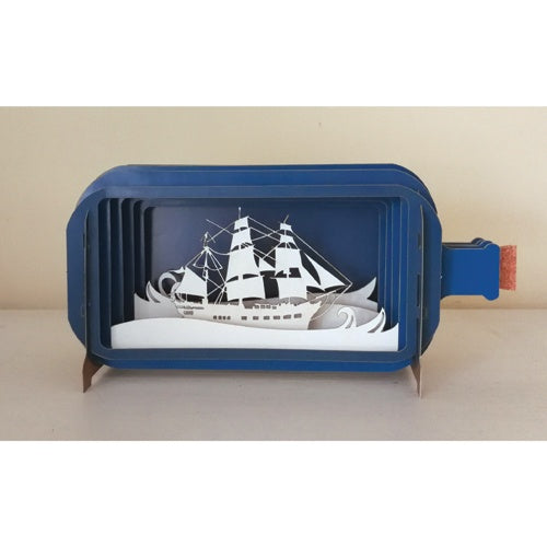 Ship 3D Message In a Bottle Card