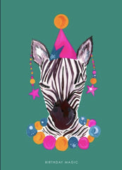 Magic Party Zebra card
