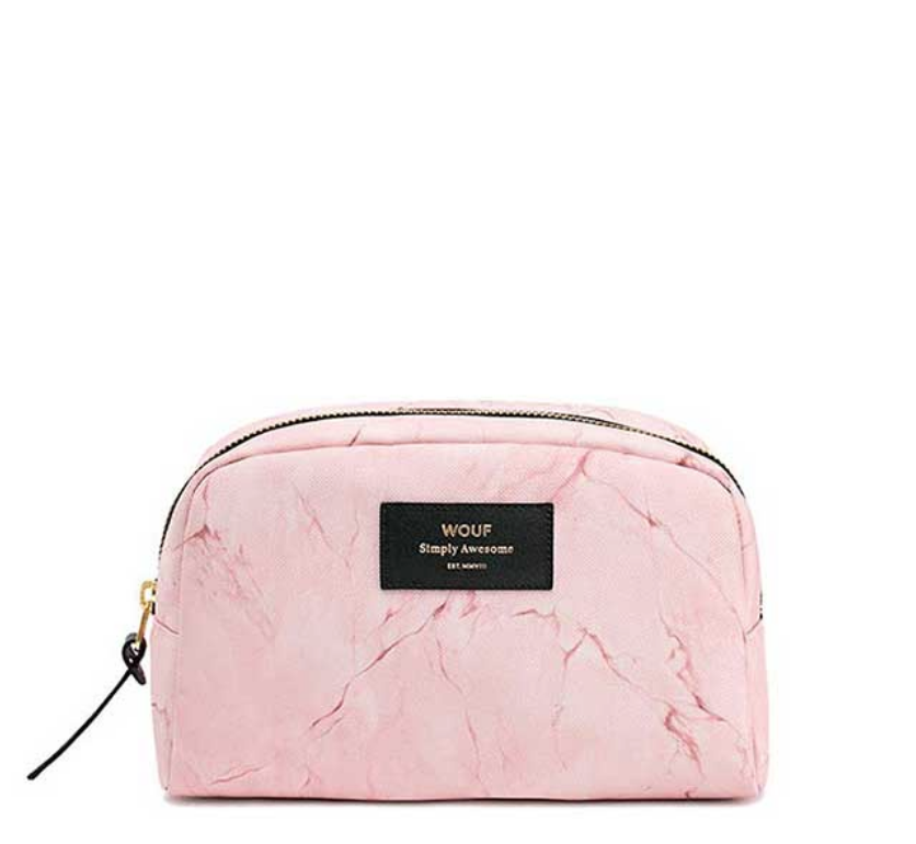 Pink Marble Big Beauty Bag