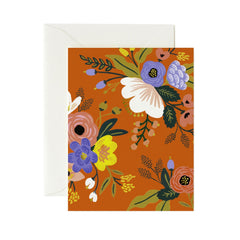 Lively Floral Red Card