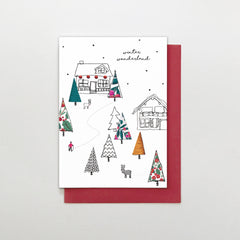 Winter Wonderland Scene Christmas Card