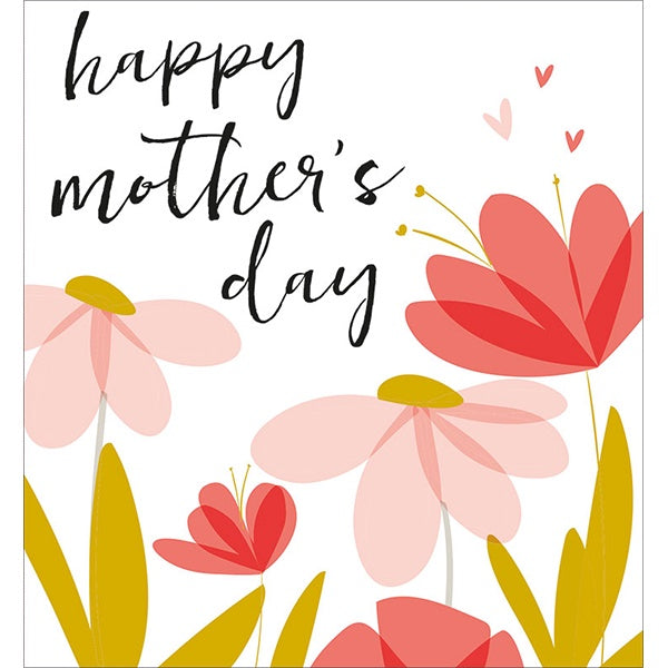 Happy Mother's Day Script Flowers Card