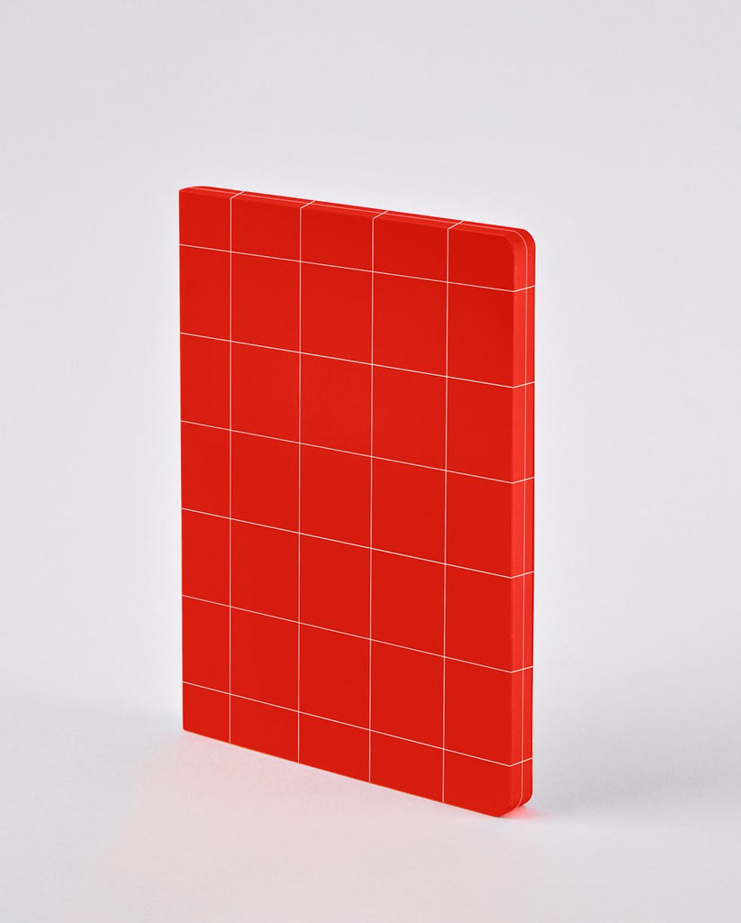 Break The Grid L Light Notebook Red
