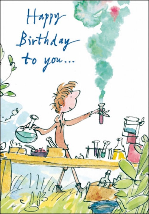 Chemistry Set Quentin Blake Birthday Card
